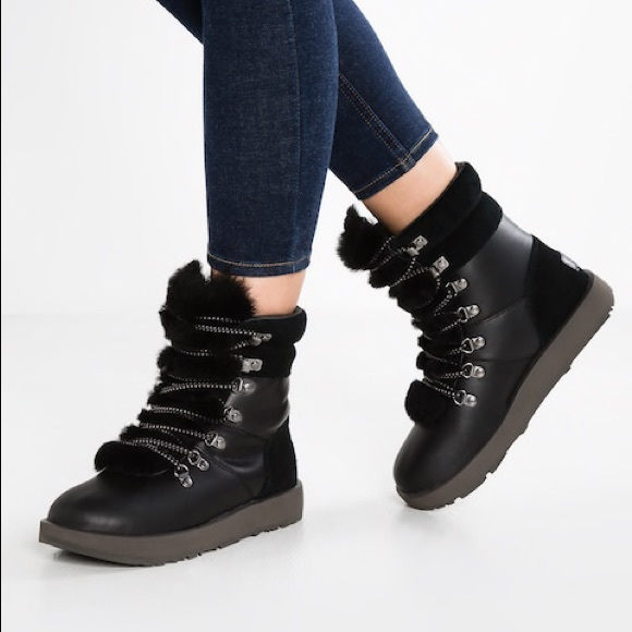 cad98f9611f Ugg Viki Waterproof Black Boots